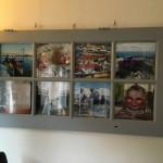 een oude deur als fotolijst
