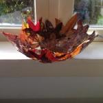 bladeren schaal in epoxi