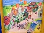 raamschildering op school van onze kids, maar kan ook goed op een kamermuur