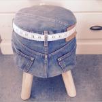 kruk van oude spijkerbroek, voor een stoere meidenkamer